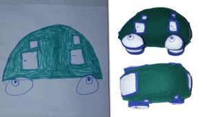crazy Space car from kid drawing