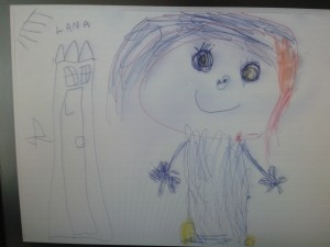 Child's painting of princess