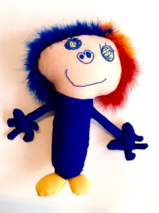 Plush doll from child's artwork