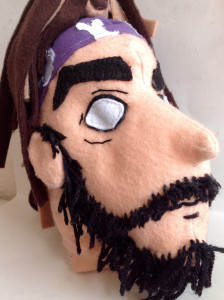 Plush Stuffed Head of a Caricature Drawings