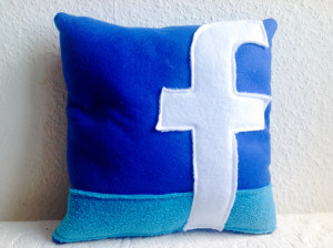 Social media icon pillow