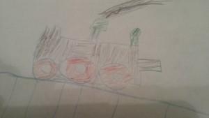 kid's drawing train
