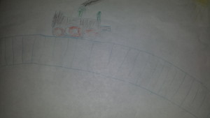 kid's drawing train
