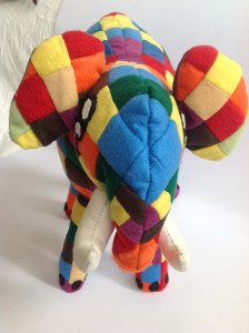 Elephant soft toy animal an face