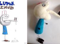 Plush puppet Zvonko