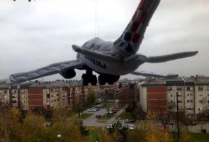 Airbus a380 plush airplane
