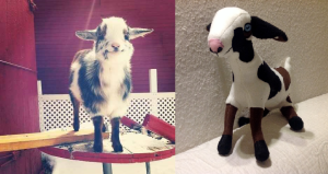 Goat plush toy